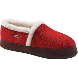 Women's Acorn Acorn Moc Ragg Slipper Red Ragg Wool