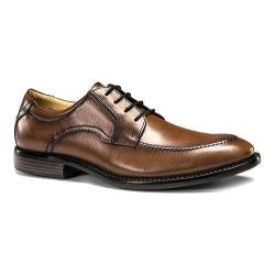 Men's Dockers Franklin Moc Toe Derby Dark Tan Oiled Tumbled Full Grain Leather