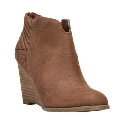 Women's Carlos by Carlos Santana Camira Wedge Bootie Cognac Synthetic Leather