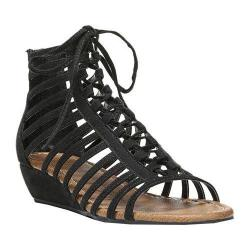 Women's Carlos by Carlos Santana Cornelia Strappy Sandal Black Fabric