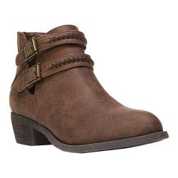 Women's Carlos by Carlos Santana Laney Bootie Cognac Synthetic Leather