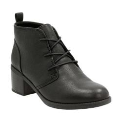 Women's Clarks Nevella Harper Chukka Boot Black Leather