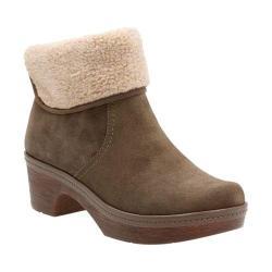 Women's Clarks Preslet Pierce Fur Boot Dark Taupe Cow Suede