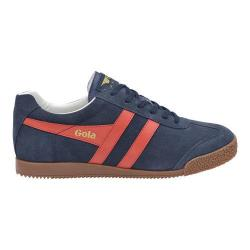 Men's Gola Harrier Suede Sneaker Navy/Red/White Suede