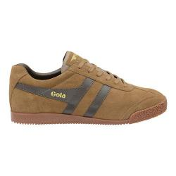 Men's Gola Harrier Suede Sneaker Tobacco/Dark Brown Suede
