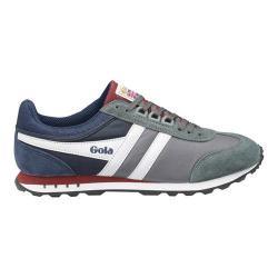 Men's Gola Boston Casual Sneaker Grey/Navy/Burgundy Nylon