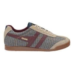 Men's Gola Harrier Savile Row Casual Sneaker Taupe/Dogtooth Textile