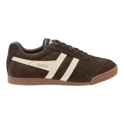 Men's Gola Harrier Suede Sneaker Dark Brown/Ecru Suede