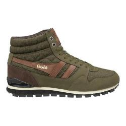 Men's Gola Ridgerunner High CC Casual Sneaker Khaki Canvas