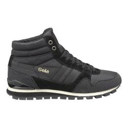 Men's Gola Ridgerunner High II Casual Sneaker Black/Black Nylon