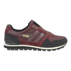 Men's Gola Ridgerunner II Casual Sneaker Burgundy/Black Nylon