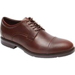 Men's Rockport City Smart Cap Toe Oxford Dark Brown Leather