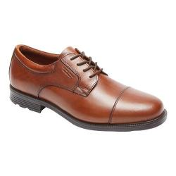 Men's Rockport Essential Details Waterproof Cap Toe Tan Antique Leather