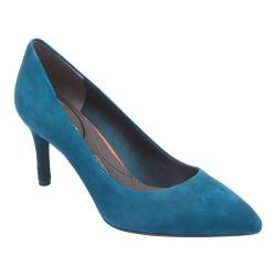 Women's Rockport Total Motion 75mm Pointy Toe Pump Rich Teal Kid Suede
