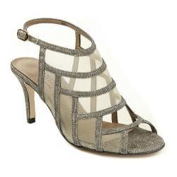 Women's VANELi Tuccy Slingback Platinum Nizza Fabric/Beige Mesh/Gold Buckle