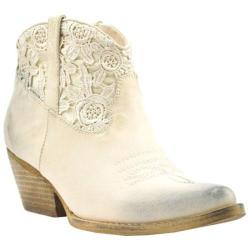 Women's Volatile Libbylou Western Bootie Beige Faux Leather