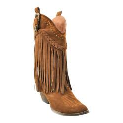 Women's Volatile Pasa Fringed Cowgirl Boot Tan Suede