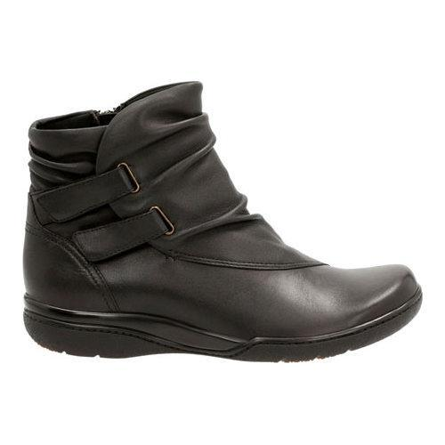 ... Women's Clarks Kearns Garden Bootie Black Sheep Full Grain Leather  ...