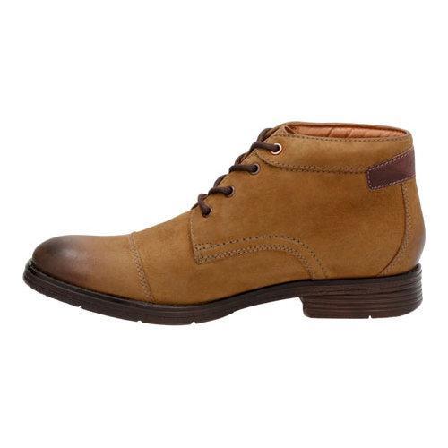 ... Men's Clarks Devington Cap Ankle Boot Tobacco Goat/Cow Suede