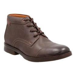 Men's Clarks Devington Cap Ankle Boot Brown Goat Full Grain Leather