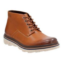 Men's Clarks Frelan Hike Ankle Boot Cognac Leather