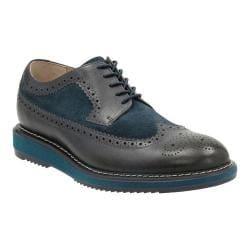 Men's Clarks Kenley Limit Brogue Dark Blue Combination Cow Full Grain Leather