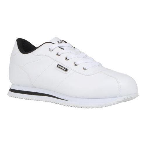 Men's Lugz Metric Low Cut Sneaker White/Black Perma Hide
