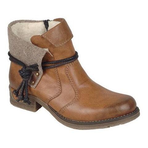 Women's Rieker-Antistress Fee 93 Ankle Boot Cayenne/Muskat/Wood/Mogano Synthetic