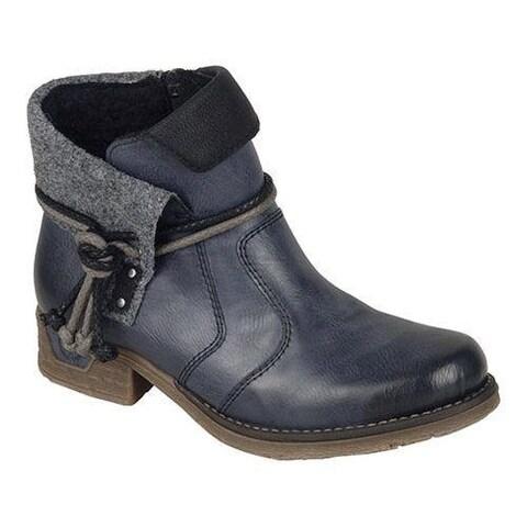 Women's Rieker-Antistress Fee 93 Ankle Boot Ozean/Black/Granit/Black Synthetic