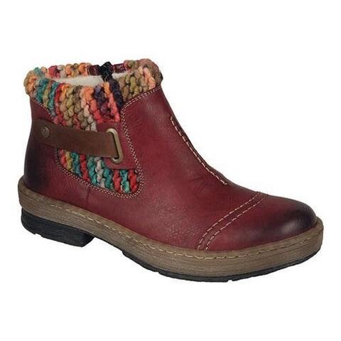 Women's Rieker-Antistress Felicitas 84 Ankle Boot Wine/Mogano/Multi Synthetic