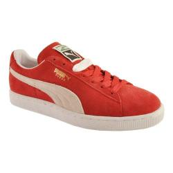 Men's PUMA Suede Classic Eco High Risk Red/White|https://ak1.ostkcdn.com/images/products/125/834/P19149558.jpg?impolicy=medium