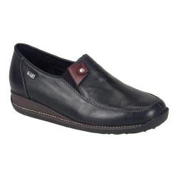Women's Rieker-Antistress Daphne 72 Slip On Black/Black/Wine Leather