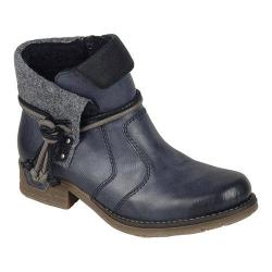 Women's Rieker-Antistress Fee 93 Ankle Boot Ozean/Black/Granit/Black Synthetic