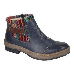 Women's Rieker-Antistress Felicitas 84 Ankle Boot Ozean/Mogano/Multi Synthetic