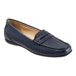 Women's Trotters Staci Moccasin Navy Leather