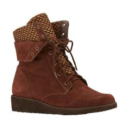 Women's Walking Cradles Finch Wedge Bootie Brown Roughout Leather/Brown Fabric (2 options available)