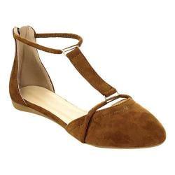 Women's Westbuitti Nina-4 Strappy Pointed Toe Flat Tan