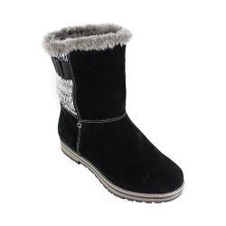 Women's White Mountain Polar Air Snow Boot Black Suede