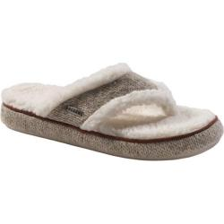 Women's Acorn Acorn Thong Ragg Slipper Grey Ragg Wool