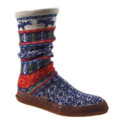 Acorn Slipper Sock Maine Woods Jacquard