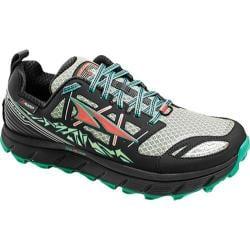 Women's Altra Footwear Lone Peak 3.0 NeoShell Trail Running Shoe Black/Mint