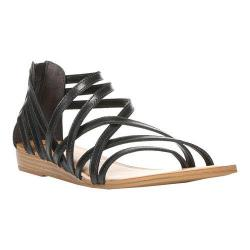 Women's Carlos by Carlos Santana Amara Strappy Sandal Black Leather