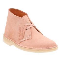 Women's Clarks Desert Boot Dusty Pink Suede