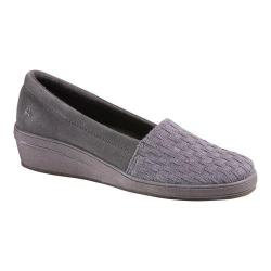 Women's Grasshoppers Amelia Wedge Grey Suede