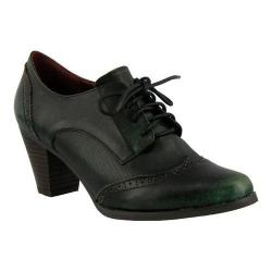 Women's L'Artiste by Spring Step Ennia Lace Up Oxford Green Leather