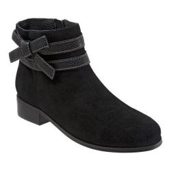 Women's Trotters Luxury Ankle Boot Black Suede