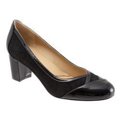 Women's Trotters Phoebe Pump Black Suede/Patent