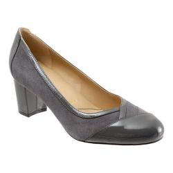 Women's Trotters Phoebe Pump Grey Suede/Patent