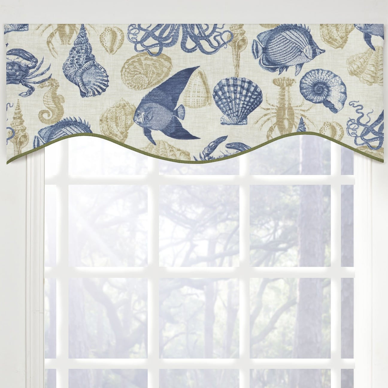 Reef Life M-shaped Window Valance