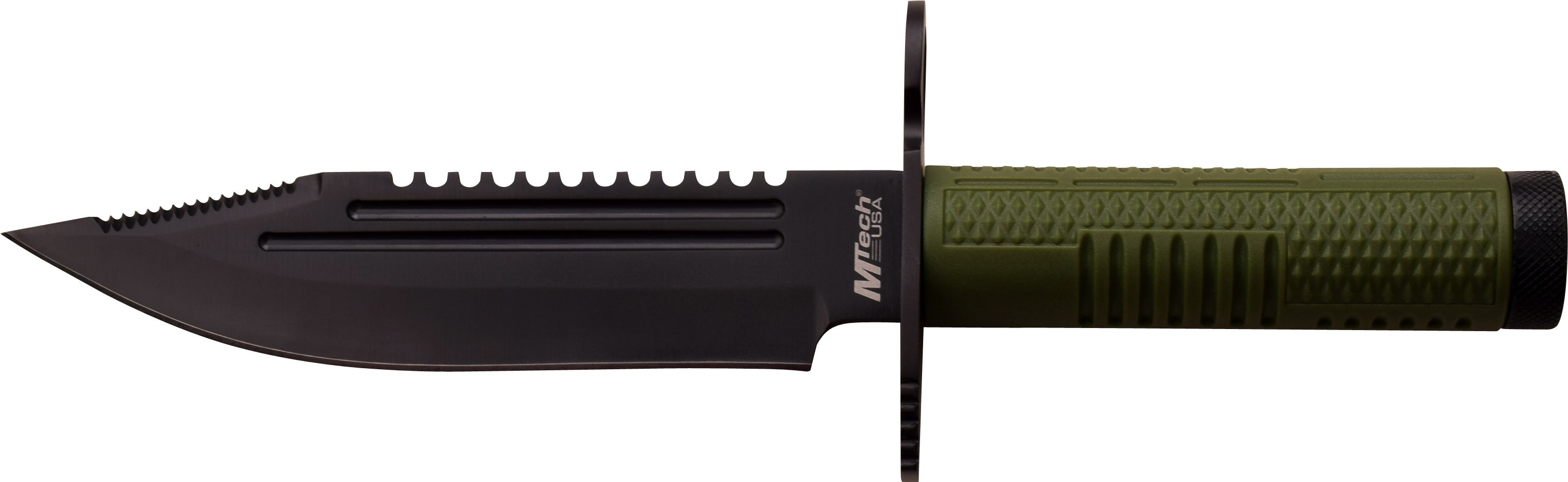 Mtech Double-serrated Fixed-blade Stainless Steel 11-piece Survival Knife Set